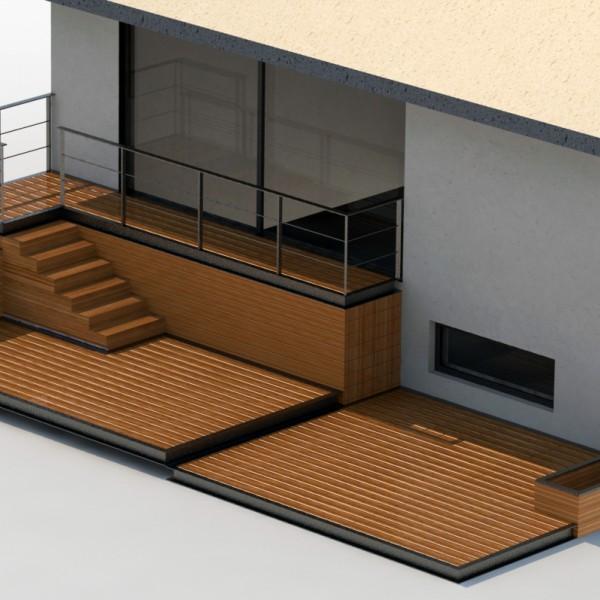 Thumbnail for Modélisation 3D terrasse bois et acier